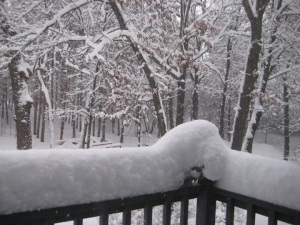 porch snow