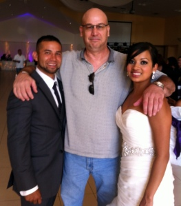 The beautiful couple, my nephew Marcos Tapia and his new bride Julie